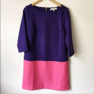 Loft pink purple dress size 8